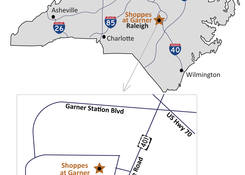 Shoppes at Garner: Map