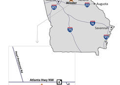 Centre Stage at Winder: Map